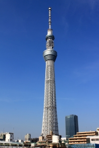 Tokyo Sky Tree, the world's tallest communications tower. Photo by Wikipedia user Kakidai, released under CC BY-SA 3.0