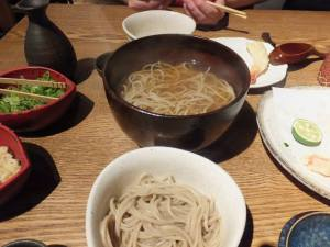 Noodle dinner at Yoshimura, Kyoto. Photo by Jose Ramos, September 13, 2013