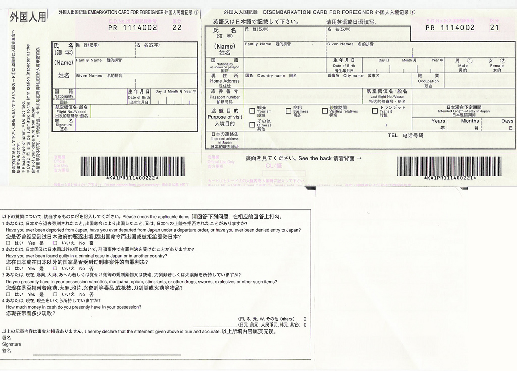 So You've Landed in Japan – Customs and Immigration | Jose's Japan ...